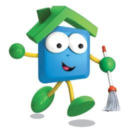 aide-à-domicile-ménage-balais-mascotte-UNA-pour-votre-mai