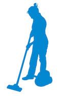 Aide à domicile pour le Service à la personne avec une femme de ménage